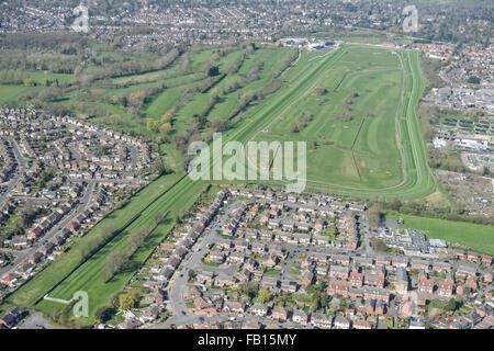 Une vue aérienne de l'Hippodrome de Leicester
