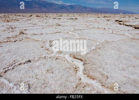Salt Flats dans Death Valley en Californie Banque D'Images