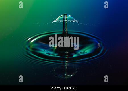 Collision de récupération d'eau Banque D'Images
