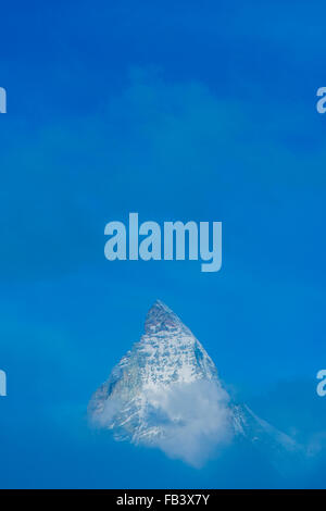 Cervin, la montagne Monte Cervino, Mont Cervin, 4,478 m, Rotenboden, Alpes Pennines, Zermatt, Valais, Suisse Banque D'Images