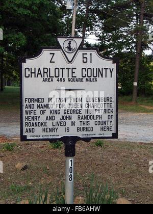 CHARLOTTE COUNTY Area 496 milles carrés formé en 1764 de Lunenburg, et nommé pour la Reine Charlotte, épouse du Banque D'Images