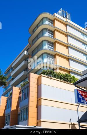 L'Australie, Sydney, architectures de couleurs pastels dans le district de Bondi Banque D'Images