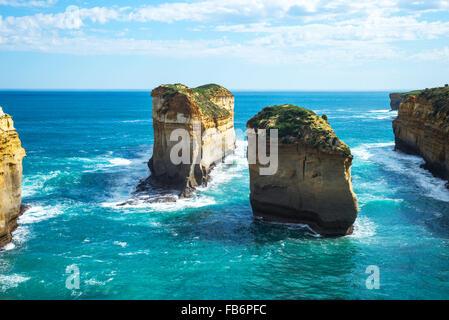 L'Australie, Port Campbell, les Douze Apôtres sea park Banque D'Images
