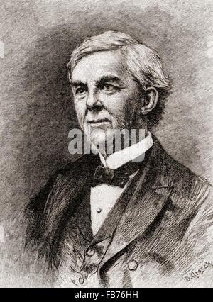 Oliver Wendell Holmes, M., 1809 - 1894. Médecin américain, poète, professeur, conférencier et auteur. Banque D'Images