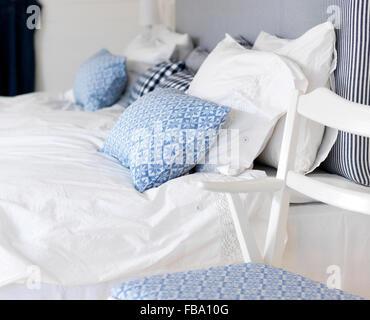 La Suède, avec le thème bleu et blanc Banque D'Images