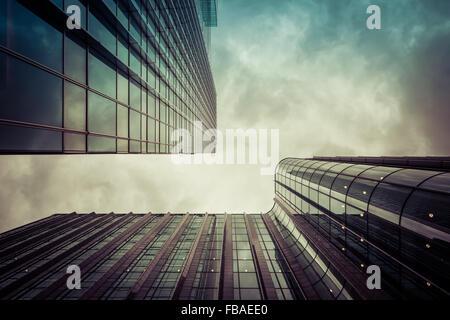 L'euphorie, les immeubles de bureaux à Canary Wharf, London Banque D'Images