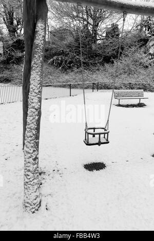 Fluctuations de la neige dans l'affaire Calder Park, Ecosse Banque D'Images