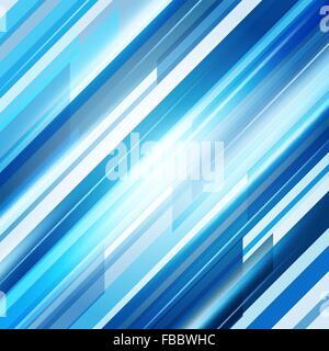 Bleu Résumé des lignes droites arrière-plan. Vector Illustration Banque D'Images