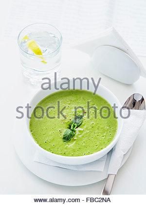 Soupe de pois verts Banque D'Images