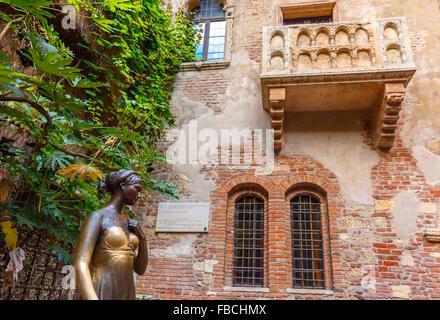 Balcon de Roméo et Juliette à Vérone, Italie Banque D'Images