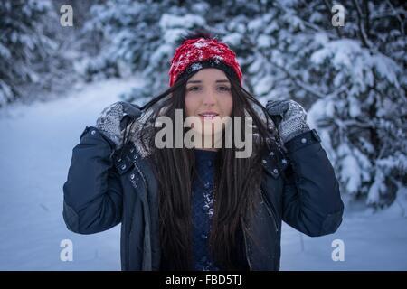 Portrait de l'hiver dans la neige Banque D'Images