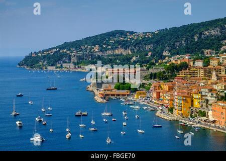 Villefranche sur mer côte d'azur Côte d'Azur France Banque D'Images