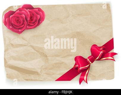 Vintage Valentine card. EPS 10 Banque D'Images