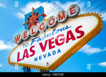 Célèbre 'Welcome to Fabulous Las Vegas, signe, sur le Strip.