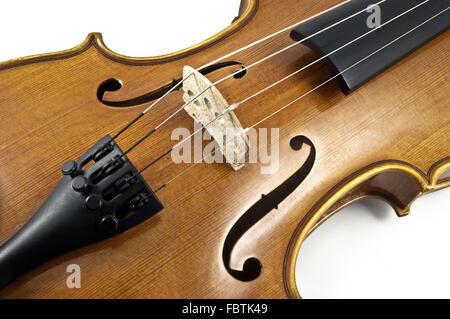 En bois détails Accord Violon italien Banque D'Images
