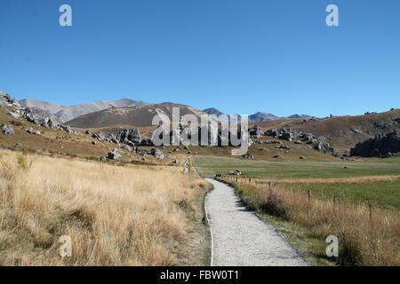 Castle Hill, New Zealand Banque D'Images