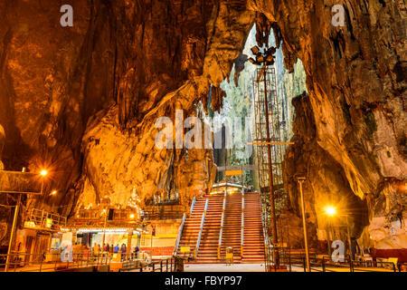 Grottes de Batu Temple Hindou près de Kuala Lumpur, Malaisie. Banque D'Images