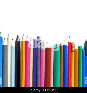 Crayons en ligne Banque D'Images