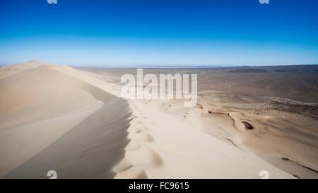 Khongoryn Els Sand dunes dans le Gobi Gurvansaikhan National Park en Mongolie, Asie centrale, Asie Banque D'Images
