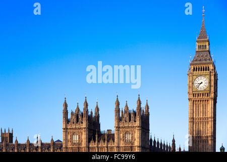 Célèbre Big Ben au centre de Londres Banque D'Images