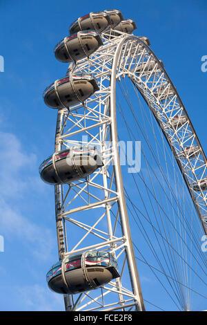 London Eye célèbre dans le centre de Londres Banque D'Images