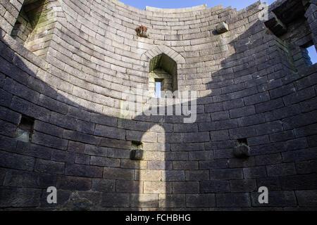 Rivington, château, une copie du château de Liverpool, une partie de l'immobilier, à proximité de Rivington, Bolton, Banque D'Images