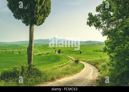 Lieu toscan dans un paysage rural Banque D'Images