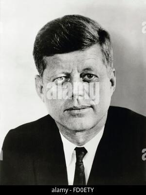 John F Kennedy, portrait du 35e président des USA, 1961 Banque D'Images