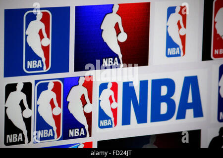 Markenname: 'NBA National Basketball Association' , Berlin. Banque D'Images