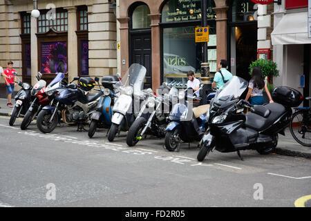 Parking pour motos solo seulement, Londres Banque D'Images