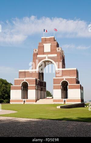 Thiepval, le mémorial aux disparus de la bataille de la Somme, pendant la Première Guerre mondiale, le nord de la Banque D'Images