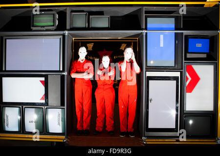Edinburgh, Ecosse, Royaume-Uni. 29 janvier 2016. Scottish National Portrait Gallery afficher une nouvelle exposition Banque D'Images