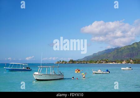 Hauru Point, Mo'orea, îles de la société, Polynésie Française Banque D'Images