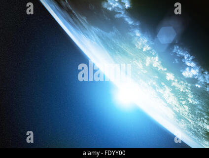 La planète Terre. Illustration de notre planète vue de l'espace. Banque D'Images