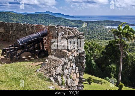 Vue de Fort King George Tobago Antilles Banque D'Images