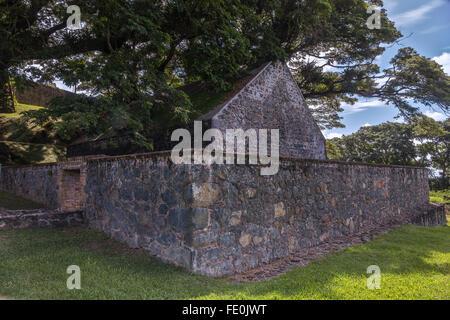La poudre à fusil Magazine. Fort King George Tobago Antilles Banque D'Images