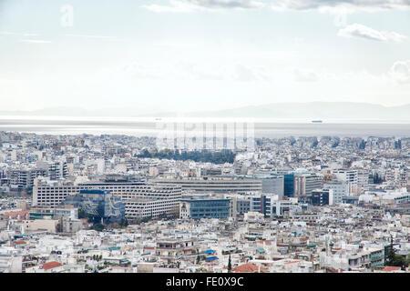 Le Pirée est une ville portuaire de la région de l'attique, Grèce. Le Pirée est situé à l'intérieur de la zone urbaine Banque D'Images