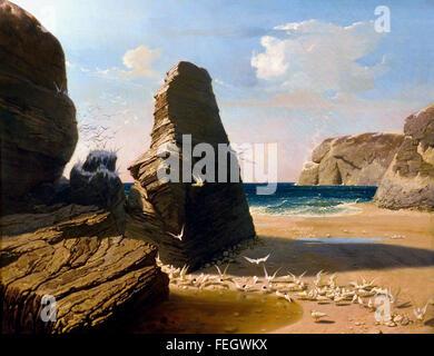 Les petites mouettes 1858 Octave PENGUILLY l'HARIDON Français France 1811 -1870 Banque D'Images