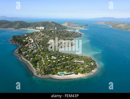 Vue aérienne de Hamilton Island, Queensland, Australie Banque D'Images