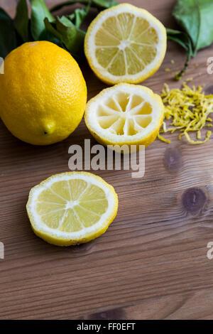Tranches de citron Banque D'Images