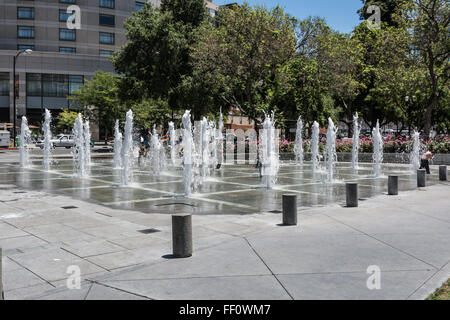San Jose, Californie,USA - 27 juin 2014 : la fontaine à San Jose Banque D'Images