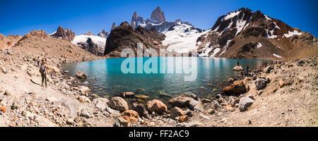 Le mont Fitz Roy (Cerro) RMago ChaRMten passant de de métrologie (RMaguna tres tres de métrologie), l'UNESCO, ERM ChaRMten, Patagonie, Argentine