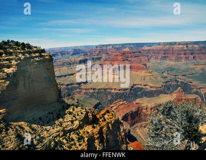 Grand Canyon Arizona,abruptes canyon creusé par la rivière Colorado, les Indiens se sont installés dans les canyons,grottes,Hopi Banque D'Images
