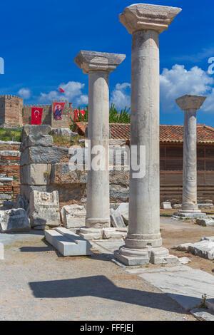 Basilique de Saint John, Ephèse, Selcuk, Izmir, Turquie Province Banque D'Images