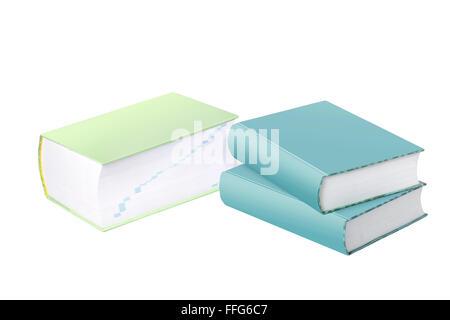 Les grands livres de référence avec les obturateurs et les épines pour Copy Space Banque D'Images