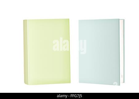 Deux livres de couverture vierge debout Banque D'Images