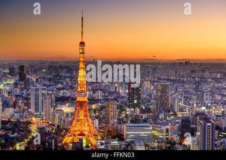 Tokyo, Japon city skyline at Dusk. Banque D'Images