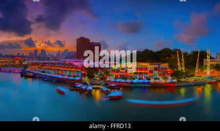 Clarke Quay Singapore Banque D'Images