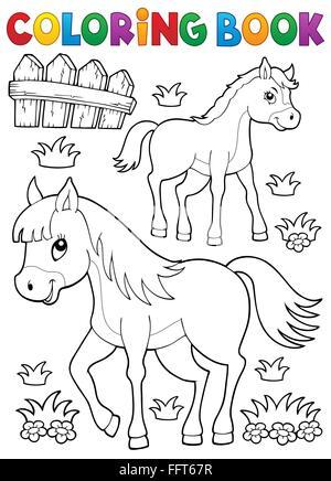 Livre De Coloriage Avec Des Animaux De Ferme 3 Illustration