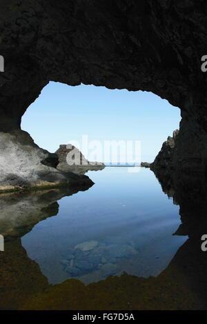Géographie / voyage, Portugal, Madère, Seixal, nature piscine, Océan Atlantique, arche naturelle, Additional-Rights Banque D'Images